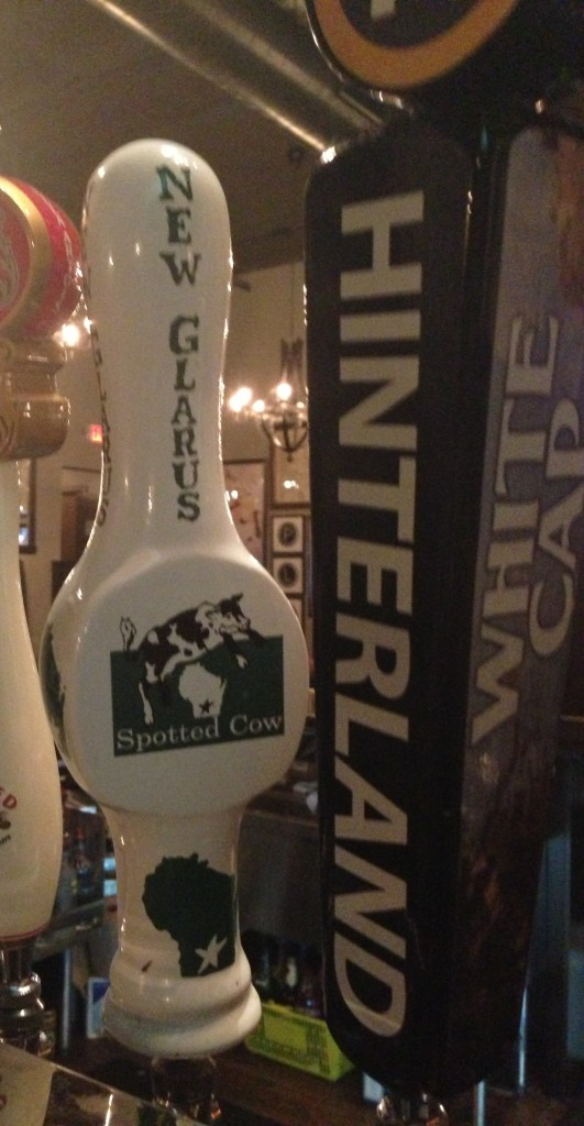 Wisconsin brews on tap. Spotted Cow - oh yeah!