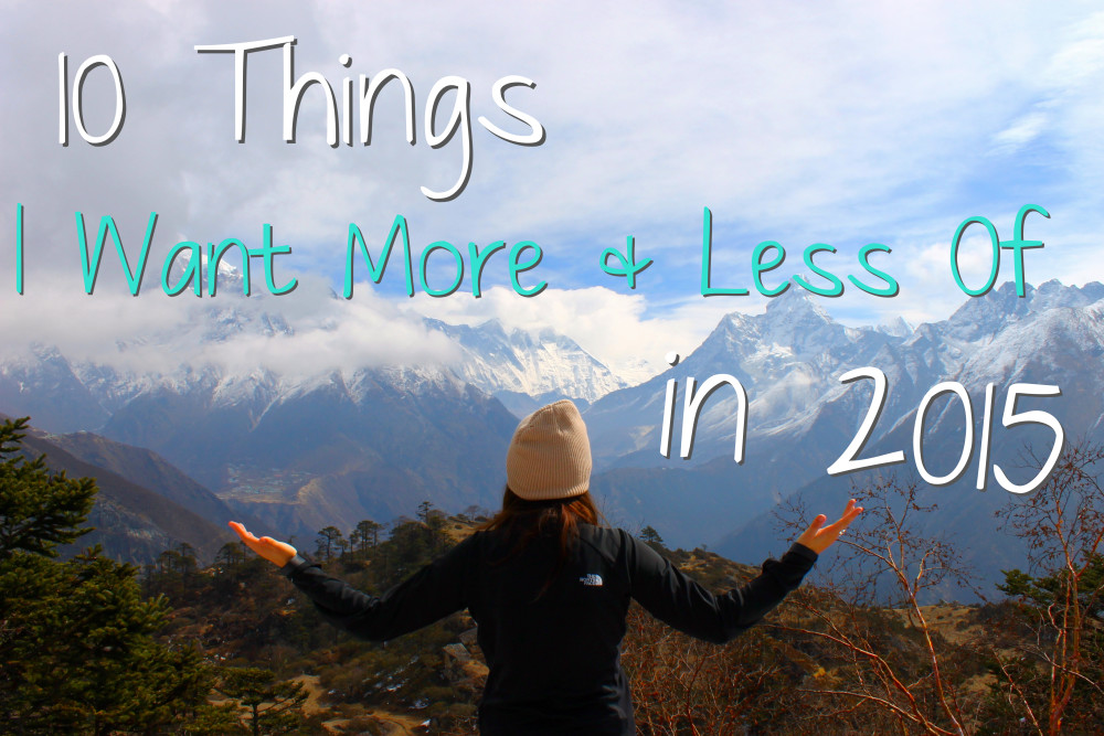 A rather unconventional set of New Years Resolutions. Plus a BIG announcement!