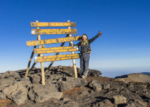 At the top of Kili in October 2016.