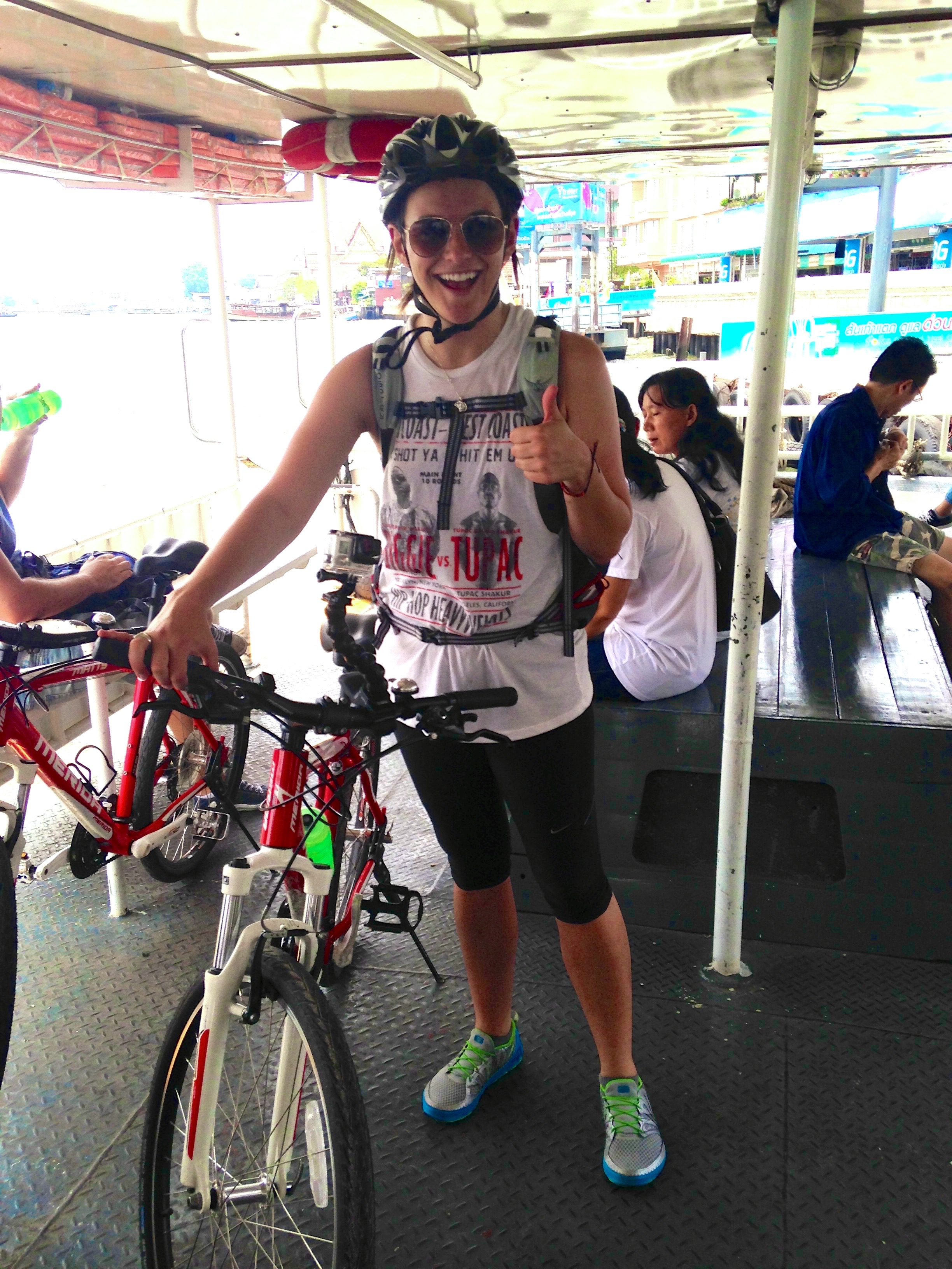 Mom tends to worry most when I sign up for things I'm probably not ready to handle, like a biking tour of Bangkok.