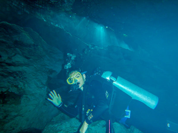 The idea of diving in an enclosed underwater cavern used to scare the shit out of me. So I signed up for a cenote dive, obviously.