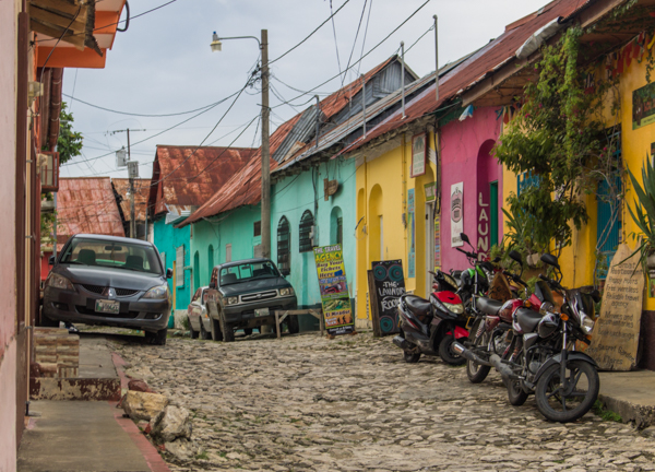 A lovely, colorful cobblestone street in Flores. I loved this tiny town!