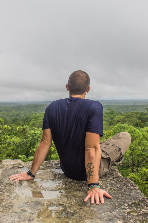 I snapped this of my friend Mitch on top of Temple 4 at Tikal.
