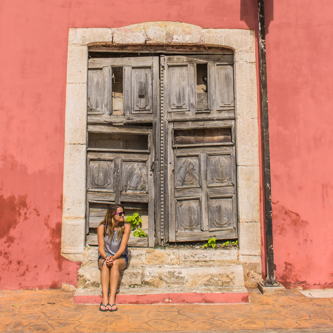 The colorful colonial streets of Valladolid held only a handful of tourists.