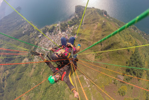 Paragliding in Guatemala in December 2015.