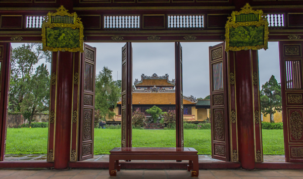 Inside the Forbidden Palace in Hue.