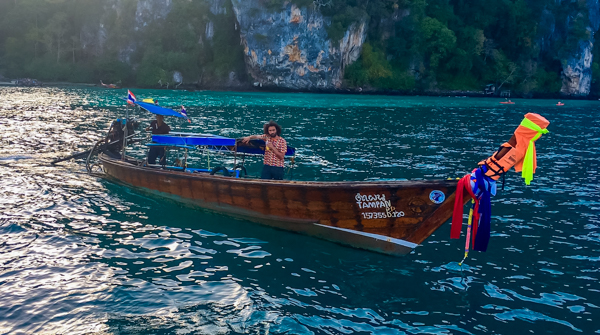The elusive water taxis in Koh Phi Phi.