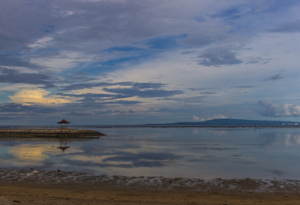 Placid Sanur at low tide. The water was so incredibly still!