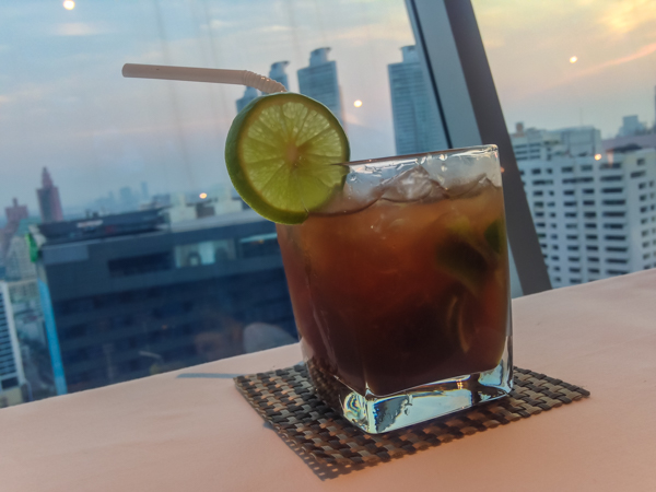 A tasty cocktail at S 31 Hotel, one of the many rooftop bars in Bangkok worth a visit!