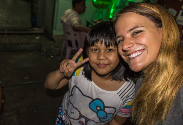 This little girl asked to take a photo of me, so I told her she could if I could have a selfie with her.