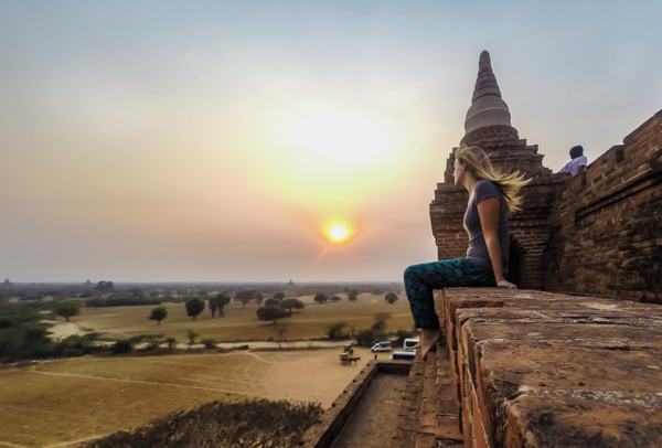 Sunset in Bagan.