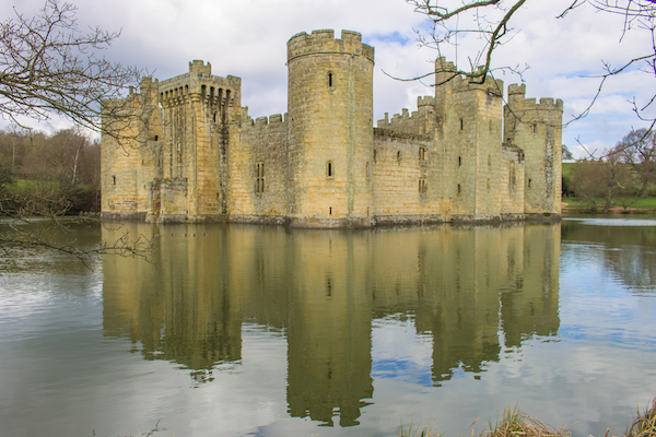 Another angle of Bodiam. Who doesn't love a good castle?