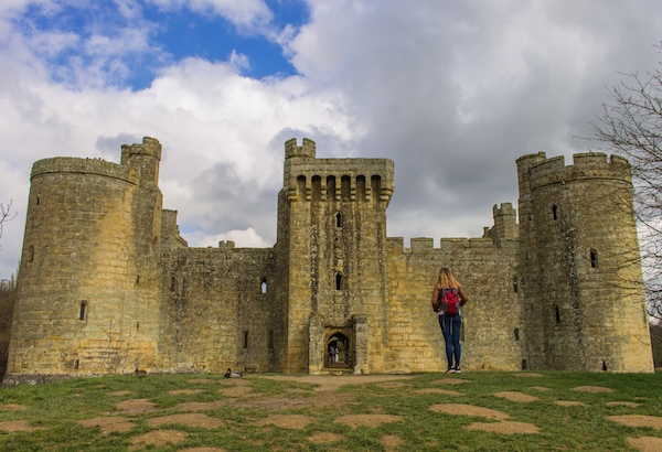 Checking out Bodiam Castle .