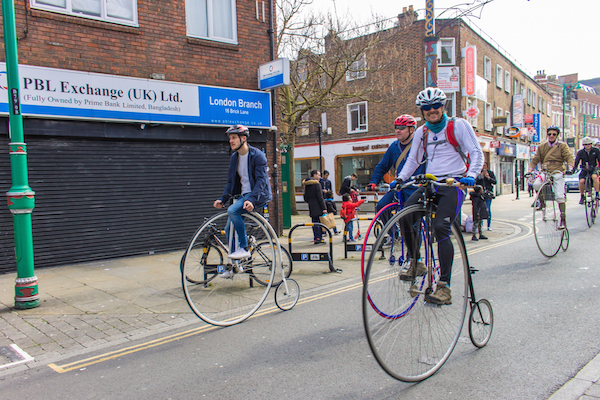 A penny farthing bike club in London!