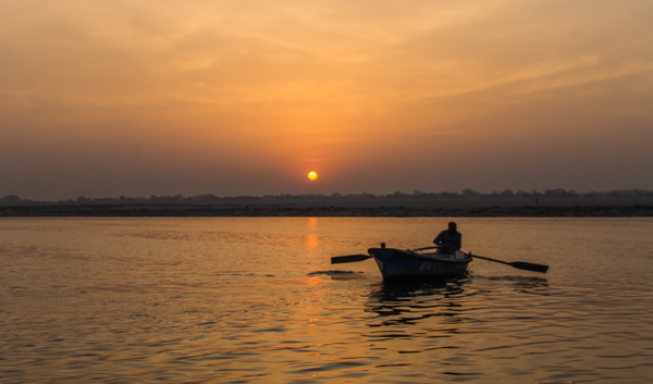 Sunrise on the Ganges.