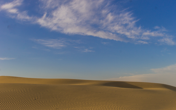 Why are untouched sand dunes so pretty?