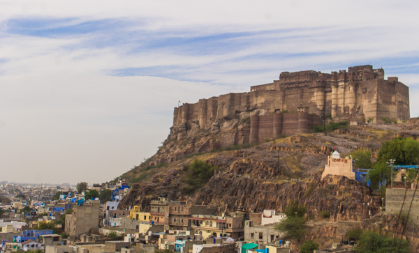 Jodhpur's fortress overlooking the town.